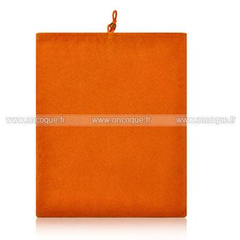 coque apple ipad air housse pochette tissu orange. Black Bedroom Furniture Sets. Home Design Ideas