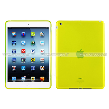 Coque apple ipad air silicone transparent housse verte for Housse neoprene ipad air