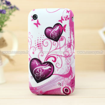 Coque apple iphone 3g 3gs amour silicone housse gel pourpre for Housse iphone 3gs