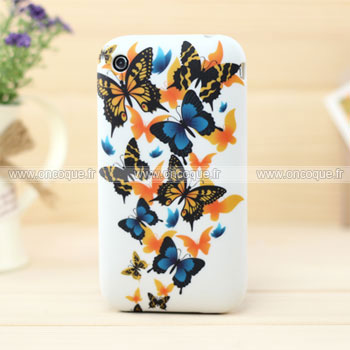 Coque apple iphone 3g 3gs papillon silicone housse gel for Housse iphone 3gs
