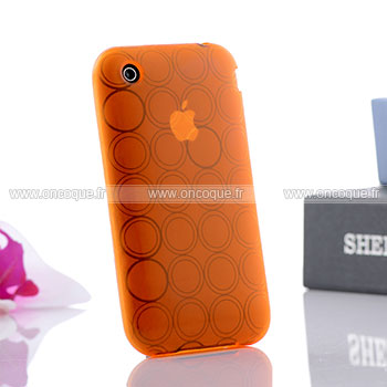 Coque apple iphone 3g cercle gel tpu housse orange for Housse iphone 3gs
