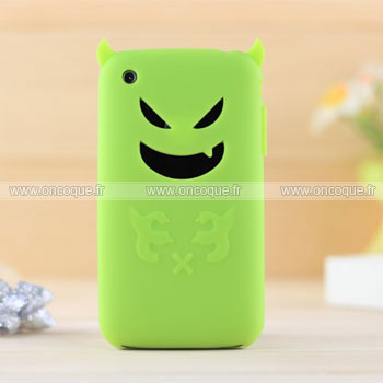 Coque apple iphone 3g demon silicone housse gel verte for Housse iphone 3gs