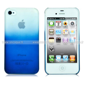 coque apple iphone 4 degrade housse rigide bleu. Black Bedroom Furniture Sets. Home Design Ideas