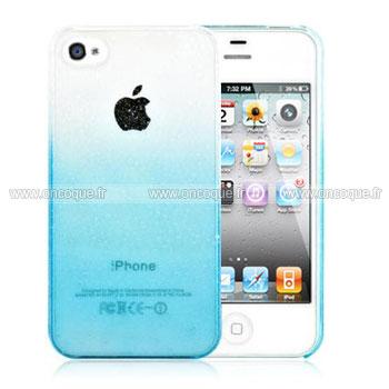 Coque Apple iPhone 4 Degrade Housse Rigide - Bleue Ciel