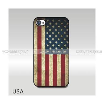 coque apple iphone 4s le drapeau des etats unis etui cover mixtes. Black Bedroom Furniture Sets. Home Design Ideas
