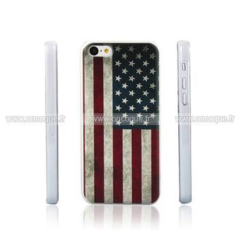 coque apple iphone 5c le drapeau des etats unis etui cover mixtes. Black Bedroom Furniture Sets. Home Design Ideas