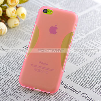 coque apple iphone 5c x style silicone gel housse rose. Black Bedroom Furniture Sets. Home Design Ideas