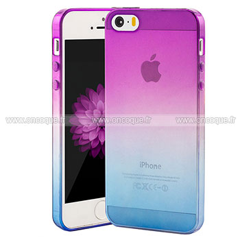 coque apple iphone 5s degrade silicone gel housse pourpre. Black Bedroom Furniture Sets. Home Design Ideas
