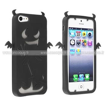 coque apple iphone 5s demon silicone housse gel noire. Black Bedroom Furniture Sets. Home Design Ideas