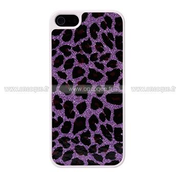 coque apple iphone 5s leopard etui rigide pourpre. Black Bedroom Furniture Sets. Home Design Ideas
