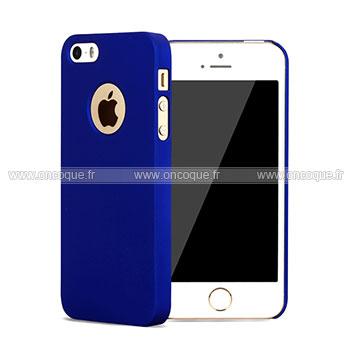 coque apple iphone 5s plastique etui rigide bleu. Black Bedroom Furniture Sets. Home Design Ideas