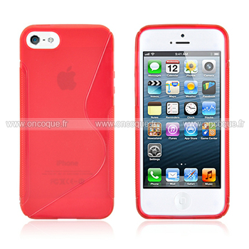 coque apple iphone 5s s line silicone gel housse rouge. Black Bedroom Furniture Sets. Home Design Ideas