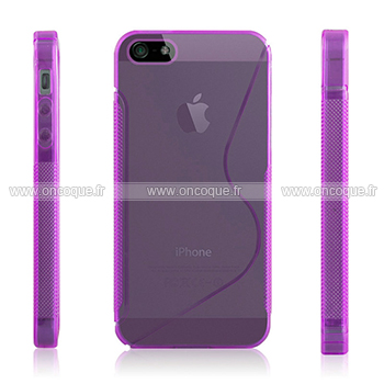 coque apple iphone 5s s line silicone housse gel pourpre. Black Bedroom Furniture Sets. Home Design Ideas