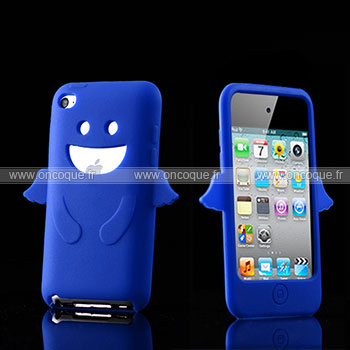 Coque apple ipod touch 4 ange silicone housse gel bleue ciel for Housse ipod classic