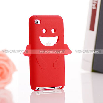 Coque apple ipod touch 4 ange silicone housse gel rouge for Housse ipod classic