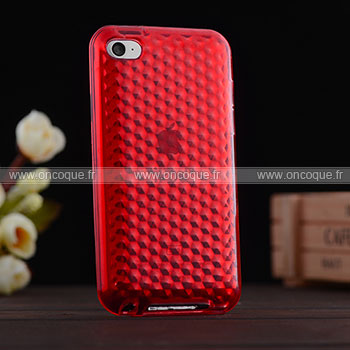 Coque apple ipod touch 4 diamant silicone gel housse rouge for Housse ipod classic