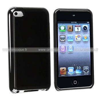 Coque apple ipod touch 4 silicone gel housse noire for Housse ipod touch
