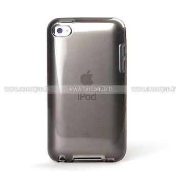 Coque apple ipod touch 4 silicone transparent housse gris for Housse ipod classic