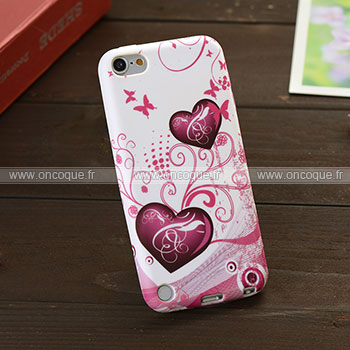 Coque apple ipod touch 5 amour silicone housse gel pourpre for Housse ipod classic