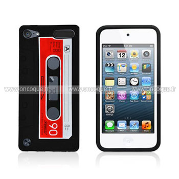 coque apple ipod touch 5 cassette bande silicone housse gel