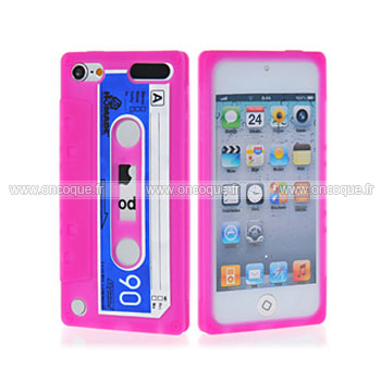 coque apple ipod touch 5 cassette bande silicone housse gel chaud
