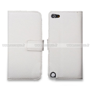 Coque apple ipod touch 5 etui en cuir housse cover blanche for Housse ipod touch 5