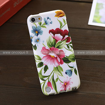 Coque apple ipod touch 5 fleurs silicone housse gel mixtes for Housse ipod classic