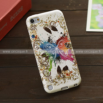 Coque apple ipod touch 5 papillon silicone housse gel mixtes for Housse ipod classic