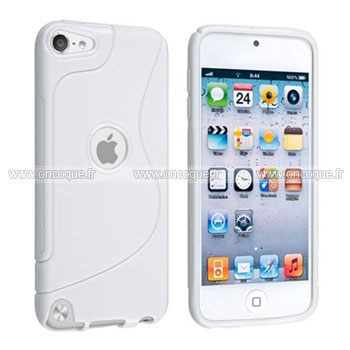 Coque apple ipod touch 5 s line silicone gel housse blanche for Housse ipod classic