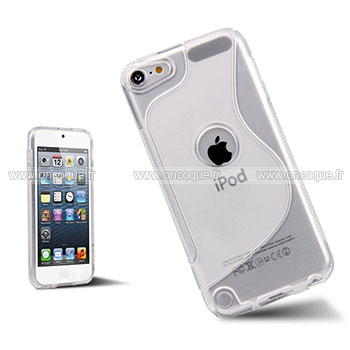 Coque apple ipod touch 5 s line silicone gel housse clear for Housse ipod classic