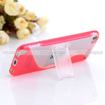 Coque apple ipod touch 5 s line support housse rose chaud for Housse ipod classic