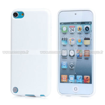 Coque apple ipod touch 5 silicone gel housse blanche for Housse ipod touch
