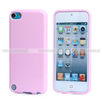 Coque apple ipod touch 5 silicone gel housse rose for Housse ipod classic