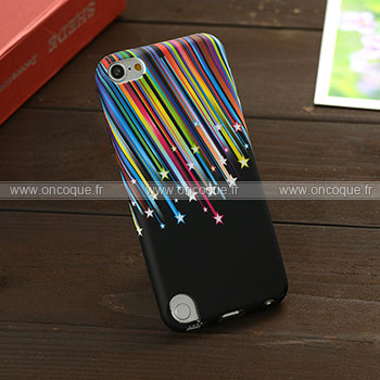 Coque apple ipod touch 5 stars silicone housse gel noire for Housse ipod classic