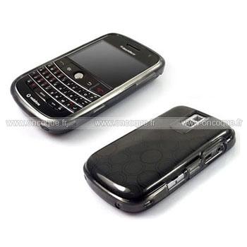 Coque blackberry bold 9000 cercle gel tpu housse gris for Housse blackberry curve
