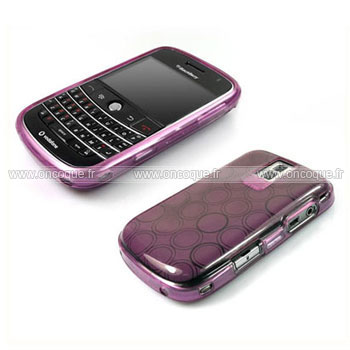 Coque blackberry bold 9000 cercle gel tpu housse pourpre for Housse blackberry curve