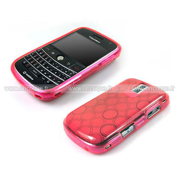 Coque blackberry bold 9000 cercle gel tpu housse rose for Housse blackberry curve