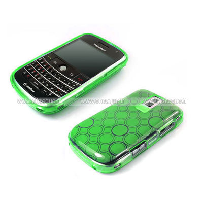 Coque blackberry bold 9000 cercle gel tpu housse verte for Housse blackberry curve