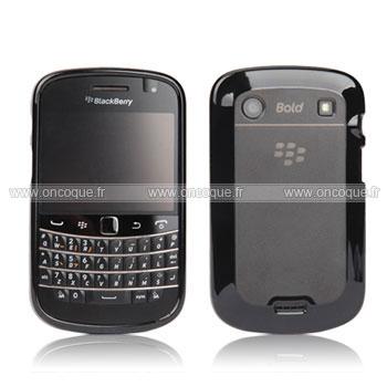 Coque blackberry bold 9900 gel tpu housse gris for Housse blackberry curve