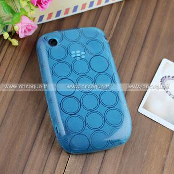 Coque blackberry curve 8520 cercle gel tpu housse bleu for Housse pour blackberry curve