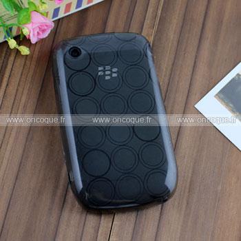Coque Blackberry Curve 8520 Cercle Gel TPU Housse - Gris