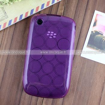 Coque Blackberry Curve 8520 Cercle Gel TPU Housse - Pourpre