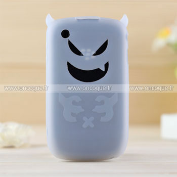 Coque blackberry curve 8520 demon silicone housse gel claire for Housse blackberry curve