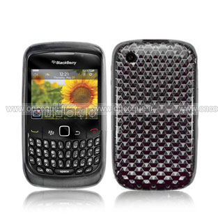 Coque blackberry curve 8520 diamant silicone gel housse gris for Housse blackberry curve 9300