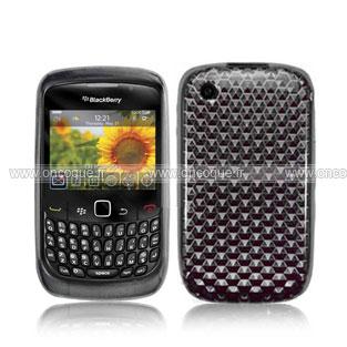 coque blackberry curve 8520 diamant silicone gel housse gris. Black Bedroom Furniture Sets. Home Design Ideas