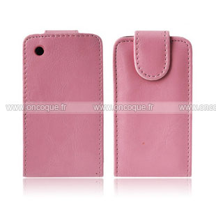 Coque blackberry curve 8520 etui en cuir housse rose for Housse blackberry curve