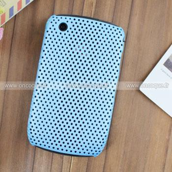 Coque Blackberry Curve 8520 Filet Plastique Etui Rigide - Bleu