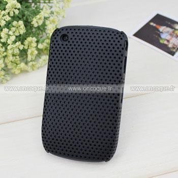 Coque Blackberry Curve 8520 Filet Plastique Etui Rigide - Noire