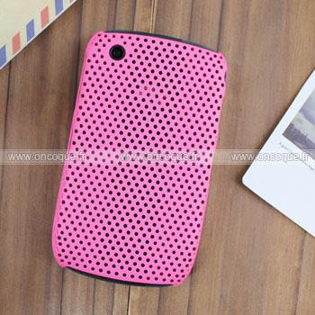 Coque Blackberry Curve 8520 Filet Plastique Etui Rigide - Rose
