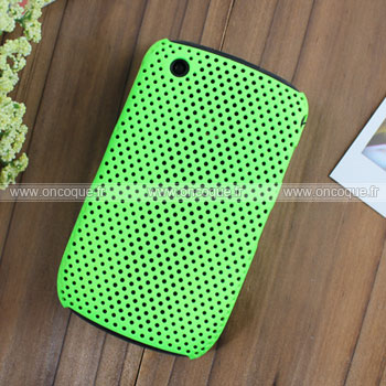 Coque Blackberry Curve 8520 Filet Plastique Etui Rigide - Verte